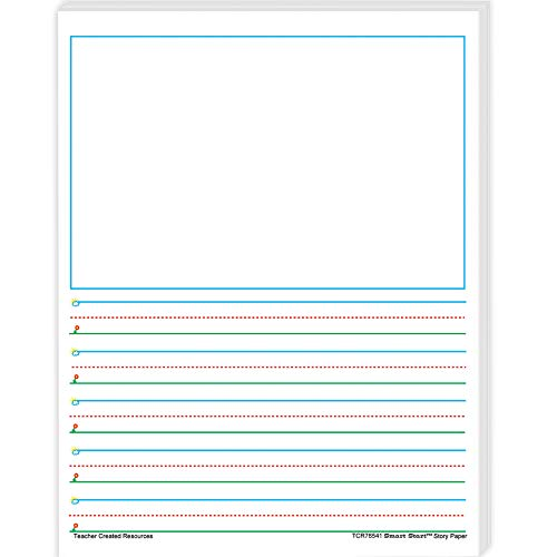 - Teacher Created Resources TCR76541BN Smart Start 1-2 Story Paper: 100 Sheets Per Pack, 4 Packs