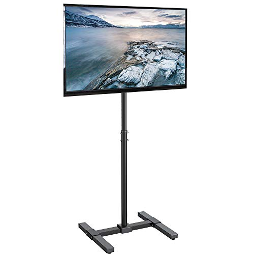 VIVO TV Floor Stand for 13 to 42 inch Flat Panel LED LCD Plasma Screens | Portable Display Height Adjustable Mount (STAND-TV07) (Tv Treadmill)