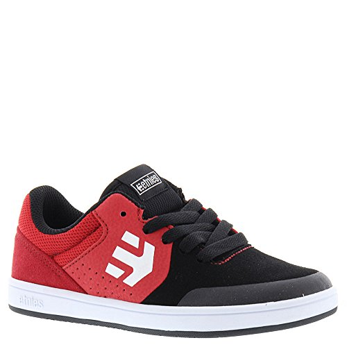 Etnies Unisex-Kinder Marana Skateboardschuhe black/red