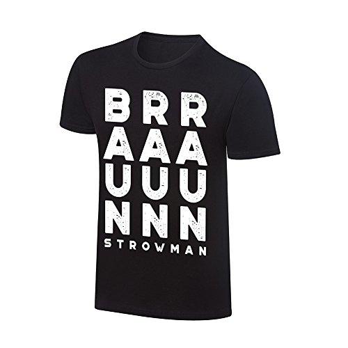 """Braun Strowman """"BRRAAAUUUNNN"""" Vintage T-Shirt, Black, Small"""