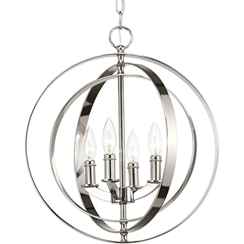 (Progress Lighting P3827-104 Equinox Four-Light Sphere Lantern, Polished)