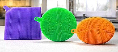 Price comparison product image BetterSponge Cleaning Dishwashing Silicon Mildew-Free Sponges As Seen On TV (Pack of 6)