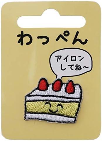 ワッペン[ショートケーキ]アイロン パッチ/けーきさん オクタニ 手芸用品 かわいい グッズ 通販