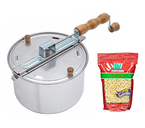 Wabash Valley Farms Whirley Pop Stovetop Popcorn Popper &...