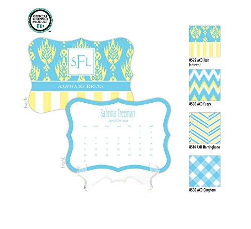 Alpha Zi Delta Personalized Desk Calendar / 2017 Calendar / Personalized Calendar / Monogrammed Desk Calendar / AXD Big Little / Rush Gift, 2016 Calendar, Sorority Calendar - Kappa Alpha Theta Lilly Pulitzer