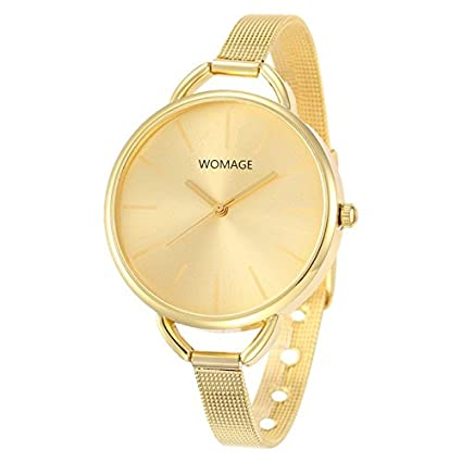 e52c9af57c8 Amazon.com   Relogio Feminino Watches Women Luxury Clock Fashion Watch Gold  Steel Ladies Wristwatches Brand Female Montre Bracelet Watches   Everything  Else
