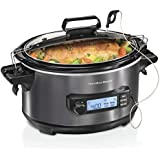 Hamilton Beach 33866 Temp Tracker Slow Cooker 6 quart Silver