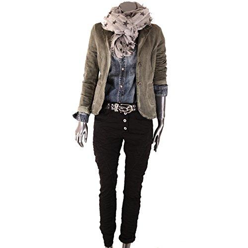 Camicia Uni de Donna Schwarz Basic 54SxHw