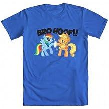 My Little Pony Rainbow Dash & Applejack Bro Hoof Adult Blue T-shirt