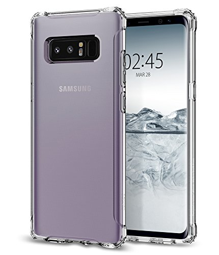 Spigen Rugged Crystal Galaxy Note 8 Case with Clear Back Panel and Reinforced Corners on TPU bumper for Galaxy Note 8 (2017) - Crystal Clear