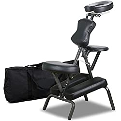 Yaheetech Portable Tattoo Spa Massage Chair Leather Pad Travel w/Free Carry Bag