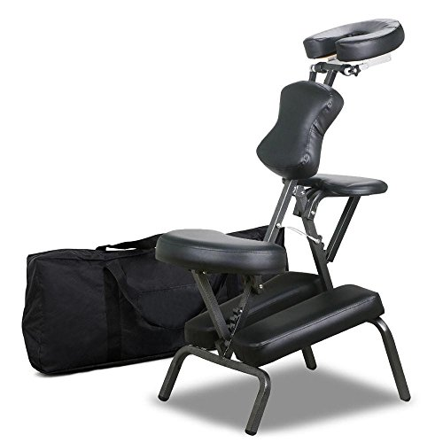 attoo Spa Massage Chair Leather Pad Travel w/Free Carry Bag (Folding Massage Chair)