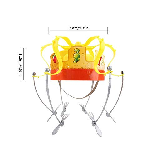 MAILE Family Game Hat Funny Tricky Party Crown Type Toys Electronic Spinning Crown Snacks Food Game for Kids Adults by MAILE (Image #1)