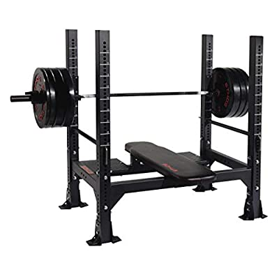 Gloworks ETHOS Olympic Bench with J-Hooks Included: Toys & Games