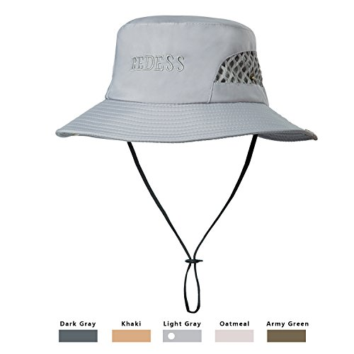 REDESS Waterproof Boonie Fishing Sun Hat Outdoor Sun UV Protection Hat, UPF 50 Protection for Men & Women With Adjustable Chin Strap & Breathable for Hiking, Camping, Boating & Outdoor Adventures.