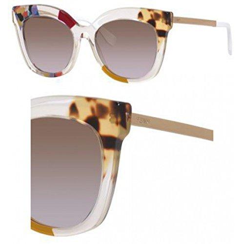 Fendi Women's Jungle Printed Sunglasses, Honey Gold/Brown Violet, One - Sunglasses Printed