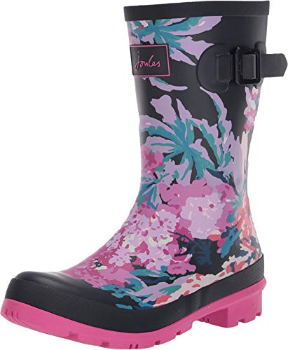 Joules Women's Molly Welly Rain Boot (8 B US, Navy All Over Floral)
