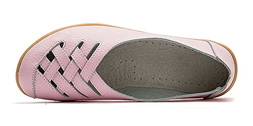 Loisir Loafers Cuir Mocassins Casual Chaussures Ville Femme Plates De Flats Rose Bateau Conduite Penny UXaXtq