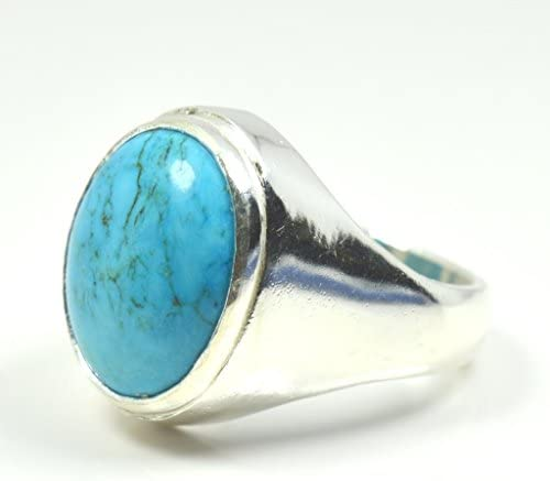 925 Sterling Silver Ring Natural Turquoise Ring American Seller AR335 Turquoise Gemstone Free Shipping
