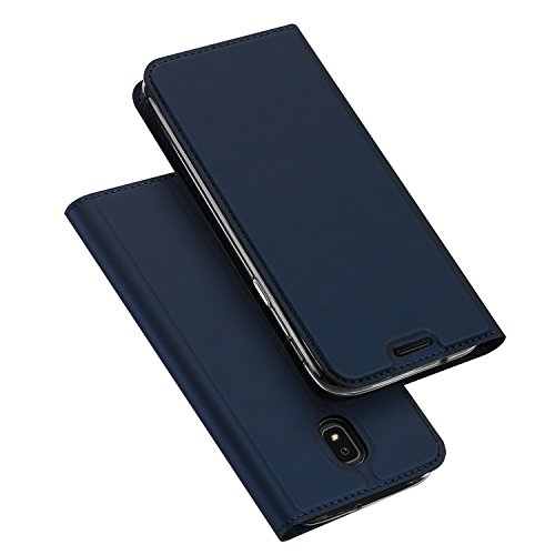 Samsung Galaxy J3 2018 Case,Galaxy J3 Star/J3 Eclipse 2/J3 Orbit/J3 Achieve/J3 Express Prime 3/J3 Prime 2/Amp Prime 3/J3 Emerge 2018 Case,DUX DUCIS PU Leather Flip Folio Case (Deep Blue)