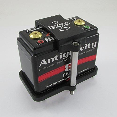 Antigravity Batteries Billet ALUMINUM Battery Tray Small Case 8 Cell (AG801 AG802) - Chopper Bobber Cafe Racer Motorcycle - Textured Black Powder Coat