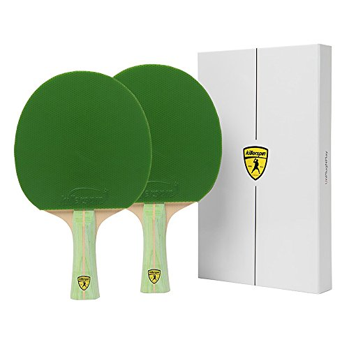 Set of 2 Killerspin Jet 200 Lime Table Tennis Ping Pong Paddles by Killerspin