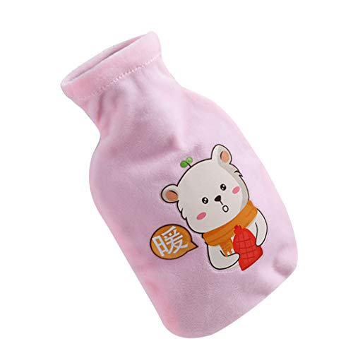 Elevin(TM) Water Injection Hot Water Bottle Large Portable Water Hot Water Bottle (Pink)