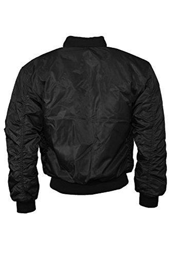 Catch One para mujer chaqueta Vintage MA1Bomber Classic Zip Up motorista de chaqueta elegante acolchada abrigo negro