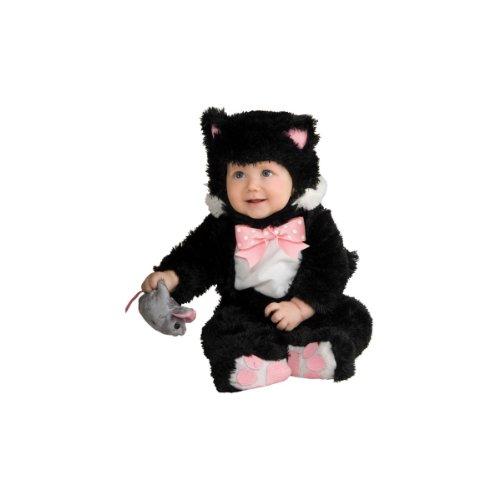 [Baby Inky Black Kitty Costume - 12-18 Months] (Kitty Newborn Baby Costumes)