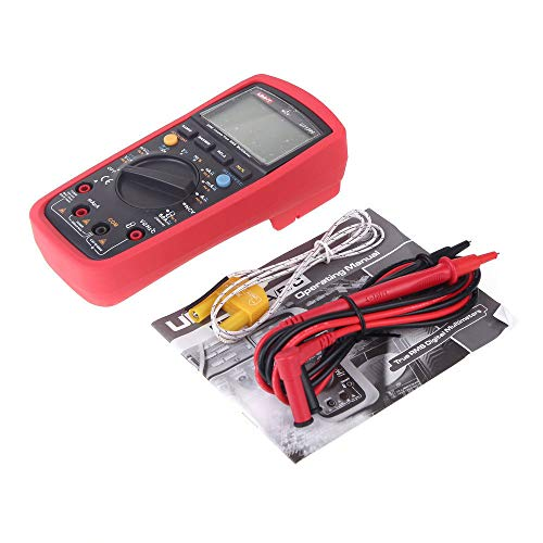 Uni-t Ut139C 5999 Count True RMS LCD Digital Auto Range Multimeter AD/DC Voltage Current Tester with Resistance Capacitance NCV Test and Temperature Measurement (Best Budget Multimeter For Electronics)