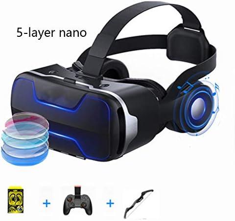 バーチャルリアリティのメガネ3D 120°FOV 4.7〜6.0インチのiPhone / Androidスマートフォンに対応 360度パノラマモード,Black,Package7