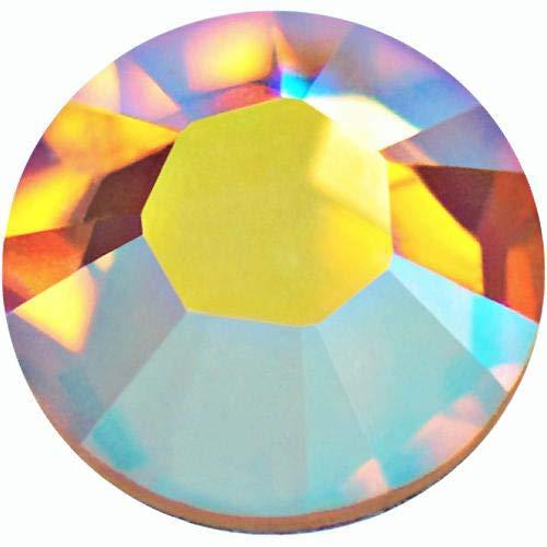 - Swarovski 2028 Foiled Flatbacks SS20 Light Colorado Topaz AB No Hotfix Rhinestones, Choose Quantity (288)