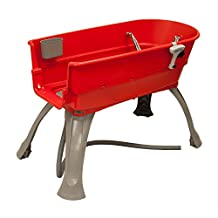 BOOSTER BATH BB-LARGE-RED Red BOOSTER BATH ELEVATED DOG BATH AND GROOMING CENTER LARGE RED 45 X 21.25 X 15