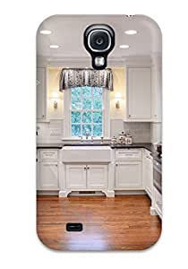 DebAA Design High Quality Traditional White Kitchen With Hardwood Floor Amp Recessed Lighting Cover Case With Excellent Style For Galaxy S4