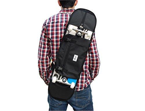 (SKATE HOME Backpack, Shoulder Bag 7.5 8.5 inches Skateboard. Black)