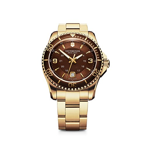 Victorinox Men's 241607 Maverick Analog Display Swiss Quartz Gold Watch - http://coolthings.us