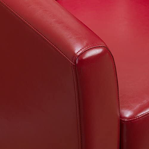 Christopher Knight Home 296640 Daymian Arm Chair, Red