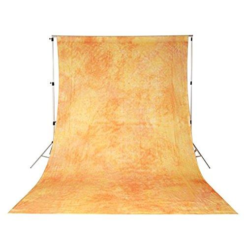 バックグランドクロス写真映像撮影用背景布 ムラ布バック オレンジ系(3x6m) DW-059   B01B49DWIW