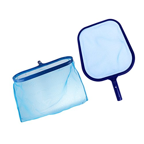 Flameer 2x Blue Swimming Pool Leaf Skimmer Net with Ultra Fine Mesh Clean Spa & Pond by Flameer