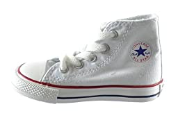 Converse Chuck Taylor All Star High top Infants Casual Shoes Optical White 7j253 (5 M US)