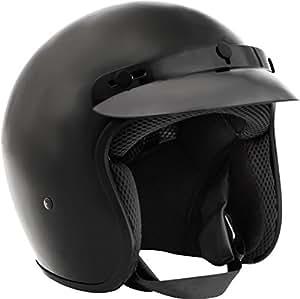 Fuel Helmets SH-OF0015 O5 Series Open Face Helmet, Gloss Black, Medium