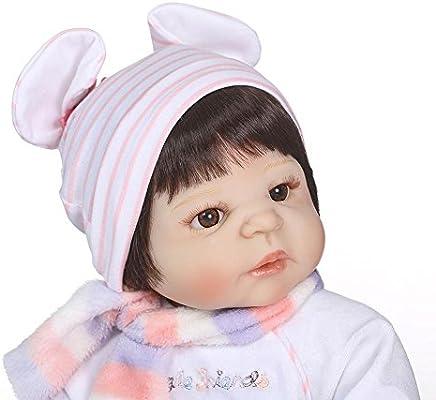 Oshide - Muñeca de bebé realista de cuerpo completo de silicona, lavable, realista, para recién nacido 1#