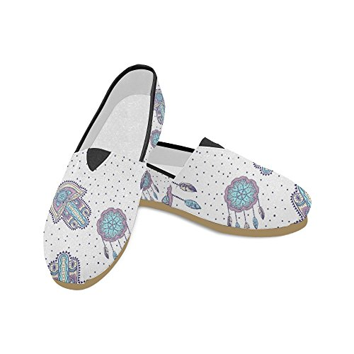 Interestprint Rock And Roll Music Hipster Mocasines Zapatos Casuales Para Mujeres Bohemian Pattern With Dreamcatcher
