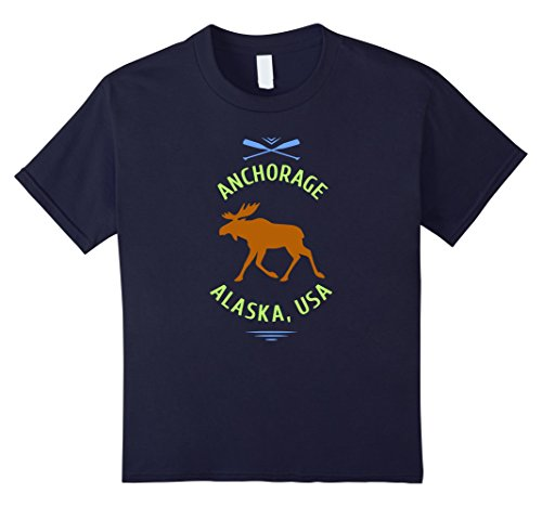 Kids Anchorage Alaska Moose T-Shirt 12 - For Kids Anchorage All