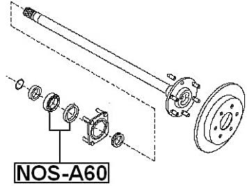 amazon 402107s210 kit for rear axle for nissan automotive Nos Label
