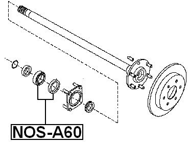 amazon 402107s210 kit for rear axle for nissan automotive NOS System Logo