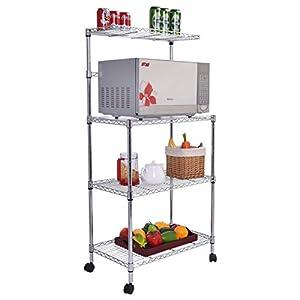 NEW 3-Tier Kitchen Baker's Rack Microwave Oven Stand Storage Cart Workstation Shelf