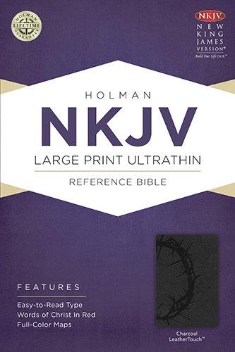 Download NKJV Large Print Ultrathin Reference Bible, Charcoal LeatherTouch pdf epub