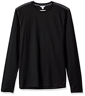 Calvin Klein Men's Slim Fit Long Sleeve Textured Jersey Crew Neck Shirt
