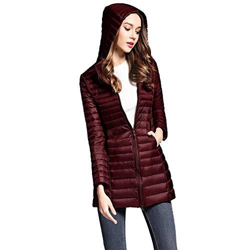 Duck Vino Tinto Prendas Jacket Gran Coat Tamaño Mujer Abrigo Parkas xrHxUwO7q